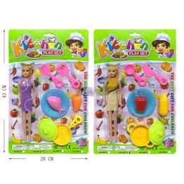 Igračka Kuhinjski Set + Lutka